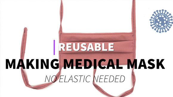 Make Reusable Medical style Mask - No Elastic Needed!