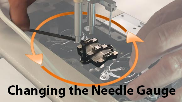 Changing The Needle Gauge on a JUKI Industrial Sewing Machine