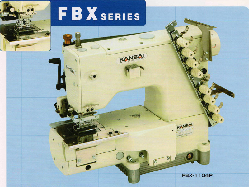 Kansai Special FBX1104P Cylinder Bed Multi-needle Double Chainstitch with Needle Feed