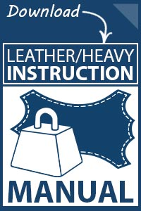 Juki LU-1560 Leather and Heavy Duty Instruction Manual