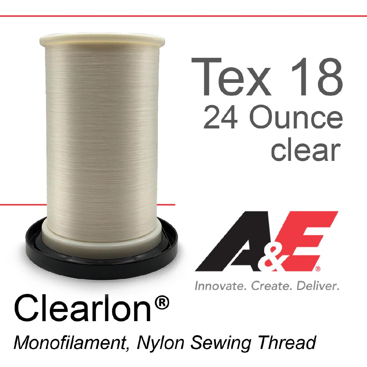 Tex 18 Clear Monofilament 24 Ounce Spool