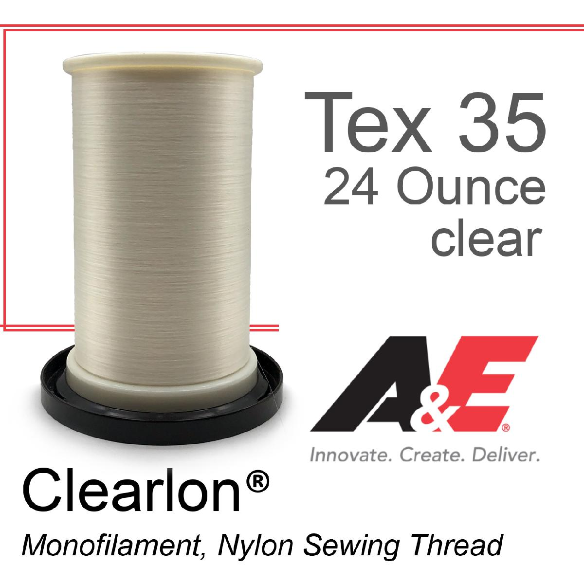 Tex 35 Clear Monofilament 24 Ounce Spool