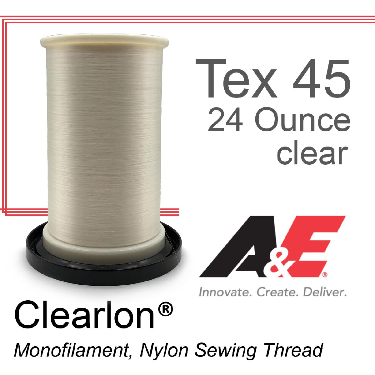 Tex 45 Clear Monofilament 24 Ounce Spool
