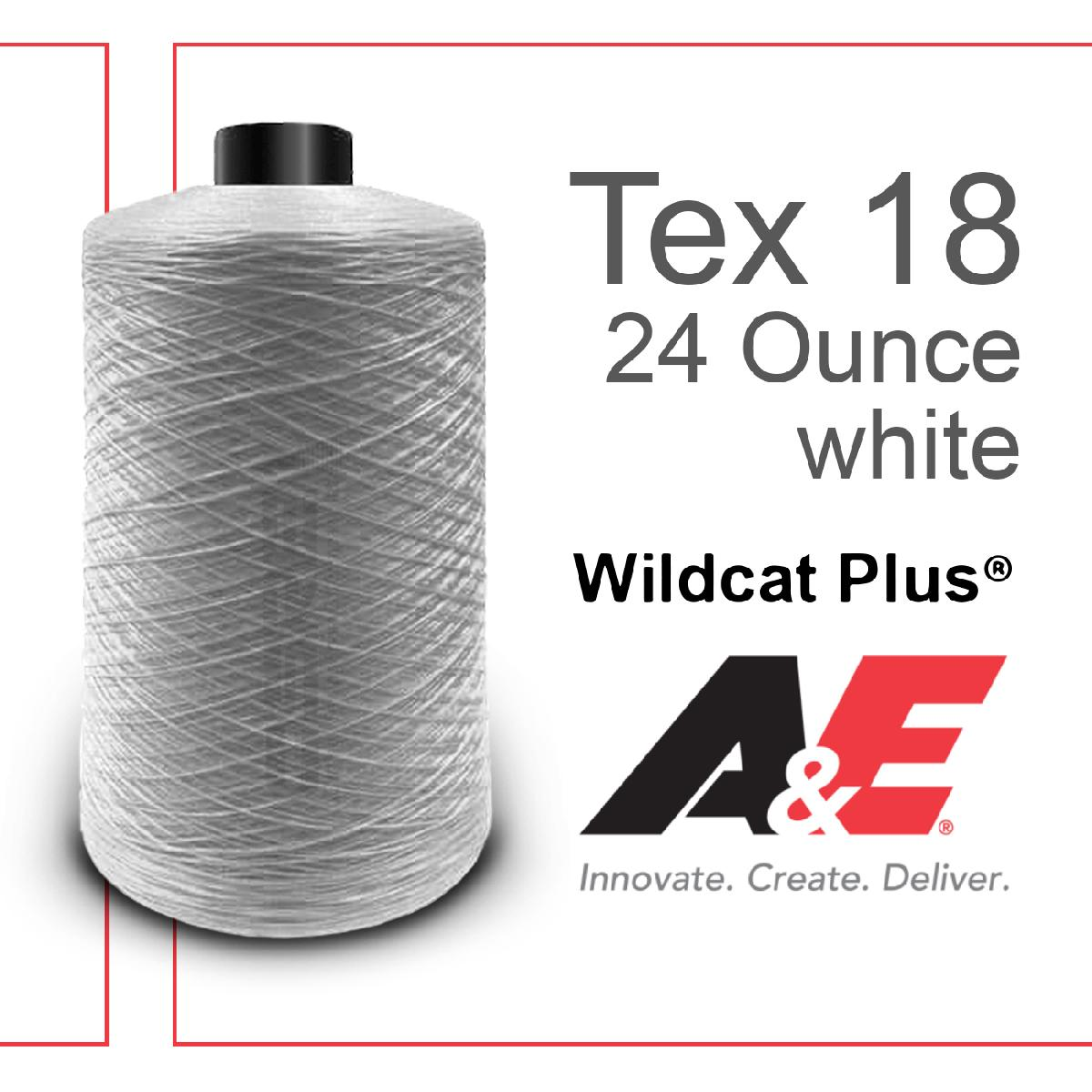 T18 Wildcat Plus, 24oz/spool White