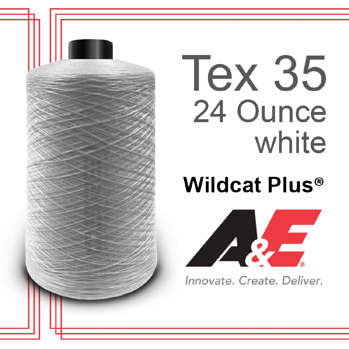 T35 Wildcat Plus 24oz/spool White