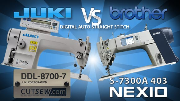 Brother Nexio S7300A -VS- Juki DDL-8700-7