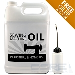 1 Gallon - Sewing Machine Oil for Juki, Singer, Brother, Consew - Free PO10 Oiler