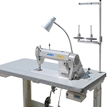 Juki DDL5550N Single Needle Lockstitch w/ Table, Stand , and Motor